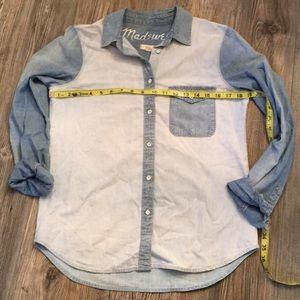 Madewell Chambray 2 Tone Denim Button Down Shirt